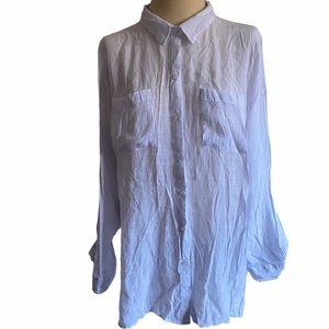 white flowy pocket blouse
